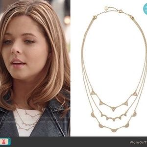 Stella & Dot Jewelry - Pave Chevron Necklace - Gold